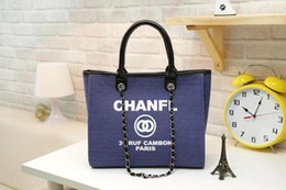 Wholesale Name Bag - fashion Famous fashion brand name women handbags Canvas Shoulder bag chains of large capacity bags