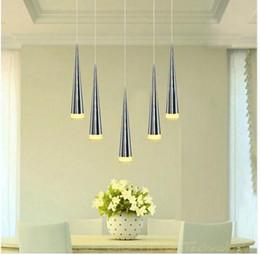 Wholesale Metal Hanging Lamp - Modern led Conical pendant light 1 3 5 9 led Aluminum&metal home Industrial lighting hang lamp dining living room bar cafe droplight fixture