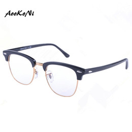 Wholesale Optical Glass Frame Women - In Men Women Club Optical Glasses Master Frame Designer Eyeglasses Master Reading Glasses Prescription Computer Eyewear 49mm 51mm
