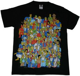Wholesale Glow Dark Shirts - The Simpsons Glow in the Dark Homer Crowd 2017 Adult new High Quality 100% Cotton men's T Shirt cheap sell Free shipping