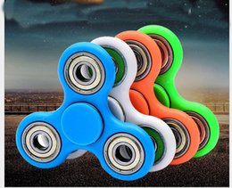 Wholesale Box Shippin - HandSpinner Fingertips Spiral Fingers Fidget Spinner EDC Hand Spinner Acrylic Plastic Fidgets Toys Gyro Toys With Retail Box Express SHippin