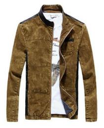 Wholesale Mens Skin Jackets - Free shipping New mens fashion stand collar fight skin cowboy jackets street fashion personality jackets,L-4XL