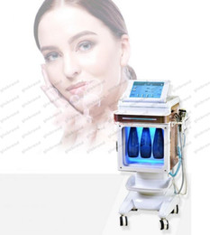 Wholesale Ultrasonic Skin Whitening - 2018 NEW vertical 5 in 1 cold hammer hydra facial water dermabrasion ultrasonic bio RF peel oxygen spra machine for facial cleansing GLO199