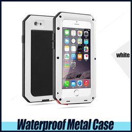 Wholesale Iphone4 Mobile - Waterproof Metal Case Hard Aluminum Dirt Shock Proof Mobile Cell Phone Cases Cover for iphone4 4s 5 5c 5s 6 6s 6s plus