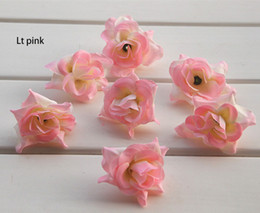 Wholesale Holiday Dress Rose - DIA:4.5cm 1.78inc wholesale 50PCS free shipping emulational silk rose flower head for home,garden,wedding,or hat or dress decoration holiday
