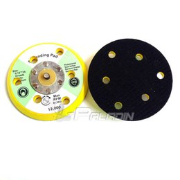 "Wholesale Sand Disc - 5"" M8 Air Sander Back-up Pad for Hook & Loop Sanding Disc with 6 holes"