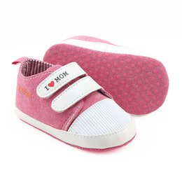 Wholesale Korean Kids Shoes - Everweekend Kids Letter Pu Leather Cute Baby Red and Blue Color Shoes Lovely Children Non-slip Korean Fashion Autumn Shoes