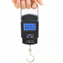 Wholesale Health Weight Scales - Wholesale-Portable 50kg  10g Electronic Weight Scale Smart Health Hook Suitcase Smart Scales Handheld Pocket Weighing Scales Balance
