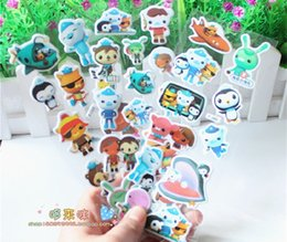 Wholesale Sticker For Children Day - Wholesale- 3 sheets set Octonauts 3D stickers for kids Home wall decor on laptop cute Gifts for the children in the party supplies