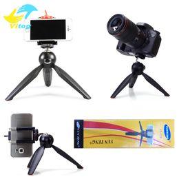 Mini trípodes cámaras digitales online-Yunteng C228 228 Mini trípode + Soporte para teléfono Clip Trípode de escritorio para cámara digital SLR Teléfono móvil Teléfono inteligente