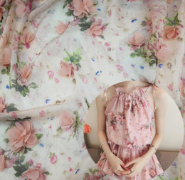 Wholesale Chiffon Fabrics For Wedding Dresses - 2 Yard Width 140cm 3D Flower chiffion Lace Fabric For Apparel Sewing Wedding dress Diy Doll