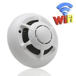 Vigilância por vídeo doméstico on-line-Wi-fi mini Câmera IP Detector de Fumaça HD 720 P Nanny Cam com Movimento Vídeo Ativado e Gravação de Áudio para Home Security Surveillance UFO