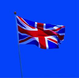 Wholesale British Countries - United Kingdom National Flag 90*150cm British Country Flag Banner National Pennants England UK Polyester Flag OOA1927