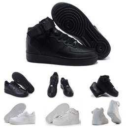 Wholesale Free Skate Shoes - High Quality forces Classical All White black low high cut men women Sports sneakers Running Shoes Forceing one skate Shoes free shipping