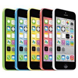 Wholesale Wholesale Unlocked Iphone Gold - Refurbished Original Apple iPhone 5C IMEI Unlocked 8G 16GB 32GB IOS8 4.0 inch Dual Core A6 CPU 8.0MP 4G LTE Smart Phone Free DHL 5pcs