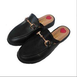 Wholesale Big Toe Slippers - Koovan Children's Slipper 2017 Anti-slip Head Flat Bottom The Big Girls Students Heart Leather Girl Single Shoes Kids Shoes Heart Leather