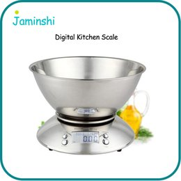 Wholesale Display Bowl - Home Kitchen Baking LCD Display Stainless Steel Digital Food Scale With Removable Bowl Household Measuring Tool