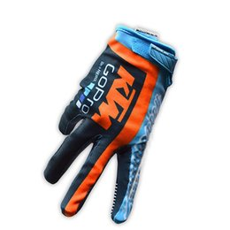 Wholesale Downhill Cycles - Free shipping arrival KTM Motorcycle gloves Downhill mountain bike gloves Men profession Motocross full finger gloves Cycling racing glove