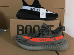 Wholesale Infant Canvas Sneakers - 2017 350 Boost V2 Zebra Releases Running Shoes Sneakers Sply 350 Boost Grey Orange Black Red Infant Black Copper,Send With Box