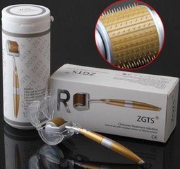 Wholesale Roller Free Shipping - 192 Pins Titanium Needles ZGTS Derma Roller Skin roller for Cellulite Age Pores Refine DHL Free Shipping