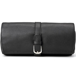 Wholesale Jewelry Roll Bag Zippers - Luxury Leather Travel Jewelry Roll Bag toiletry Portable Jewelry toiletry Bag For Necklace Bracelet Earrings Ring Storage Organizer Hold