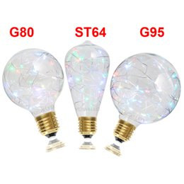 Wholesale Beautiful Bulbs - Beautiful Starry Spiral AC110V 220V Multiple Color LED String Light Bulb G80 G95 ST64 Globe Starry Lamp Home Party Wedding Decorate Lighting