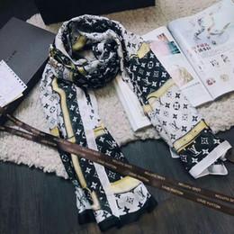 Wholesale Brand Scarves - Factory Price Brand designer Silk Scarf for Women's Letter printing Belt scarves Wrap Shawl 190*80CM