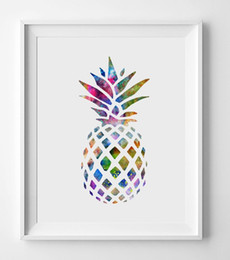 Wholesale Art Abstract Painting Oil - Unframed Wall Art Oil Painting On Canvas Fruit Paintings Colourful Pineapple Abstract Picture Decor Living Room Decor
