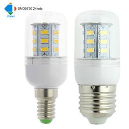 Wholesale Wholesale Ampoule - 50X ampoule led e14 E27 GU10 B22 G9 corn bulb light smd 5730 24leds 360 degree super lighting 110v 220v Transparent shell lampen