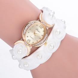Wholesale Wrap Watch Brands - 2017 DUOYa Brand Luxury Exquisite Flower Wrap Wristwatches Casual Vintage Leather Women Quartz Watches Gift