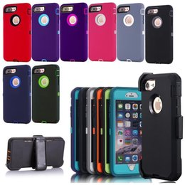 Wholesale Hybrid Defender - Robot 3 in 1 Defender Case High Impact Hybrid Rugged Shockproof Combo Armor Cover for Apple Iphone 7 6S plus 5S Samsung Galaxy S8 S7 S6 edge
