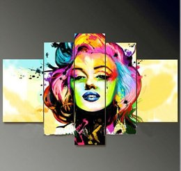 Wholesale Marilyn Monroe Abstract Paintings - Pure hand painted oil painting on canvas home decoration picture marilyn monroe portrait painting canvas art christmas gift
