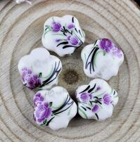 Wholesale Diy Loose Ceramic Beads - Porcelain Beads, mixed colors,DIY accessories ceramic loose beads,flower design,more colors for choice sold per bag of 100 pcs