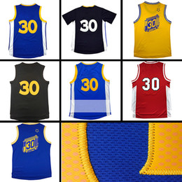 Wholesale Ivory Logo - S n C y #30 Basketball jersey 100% Stitched Lightning version 30 C Y Throwback Men #30 jerseys cheap sales embroidery Logos free shipping