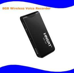 Wholesale Mini Dvr Digital Pocket - Wholesale- New Mini 8GB Wireless Long Distance Wireless Remote Digital Recording pocket clip recorder support MP3 DVR-309