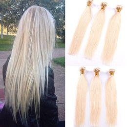 Wholesale Hair Piece 613 16 - Passion 613 Brazilian Hair Weave Cheap Blonde Straight Remy Human Hair Straight 3 Bundles Brazilian Virgin Hair Weave Bundle Deals