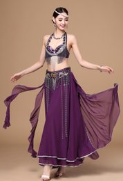 Wholesale Costumes Arabic - 2017 New sexy 12 colors arabic belly dance wear stage costumes belly dancing performance dresses with belt