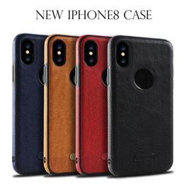 stitch handy fällen Rabatt Für iphone X 8 iphone 7 plus lederner Kasten Samsung-Galaxie S8 plus S7 S7 Rand S6 nähende TPU Handy-Fälle