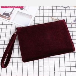 Wholesale Flocked Material - MB-32 Fashion women's flocking material makeup cosmetic bags elegant makeup bag cases pouch free shipping