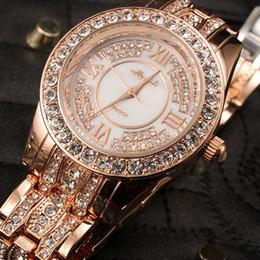 Wholesale Designer Gems - High quality! Fashion designer famous brand women rhinestone watches diamond women dress watches for ladies stainless steel band