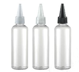 Wholesale Needle Plastic Containers - 30PCS LOT-100ML Needle Nose Cap Bottle,Clear Plastic Cosmetic Container,Empty Makeup Sub-bottling,Sample Perm Lotion Vials