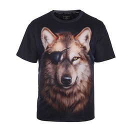 Wholesale Wolf Eyes - Universal Single Eye Wolf 3d Printed Men T-shirt Super Big Size Shirts for Male Oversized Tops Tee Casual Clothes for Fat People BL-033