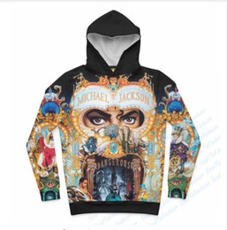 Wholesale Mens Short Sleeve Hoodies - Newest Fashion Womens Mens King of Pop - Michael Jackson Funny 3D Print Casual Crewneck Hoodies Plus Size LMS00013
