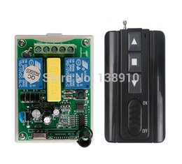 Wholesale Appliance Switches - Wholesale- AC220V 2CH Wireless Remote Control Motor Positive &negative Switch System Receiver +Transmitters for Appliances Gate Garage Door