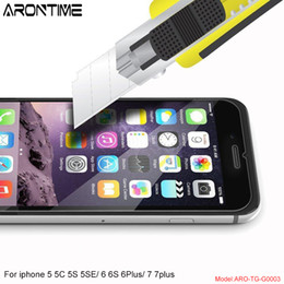 Wholesale Film Fronted Bags - HOT For iPhone 7 plus Tempered Glass Screen Protector Echt Glass Display 9H Protective Film for iphone 5S 6 6S PLUS opp bag