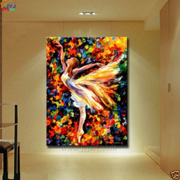 Wholesale Framed Asian Art - Framed Dancer,Pure Hand Painted contemporary Asian Abstract Wall Decor Art Oil Painting On High Quality Canvas.Multi customized sizes Ab006