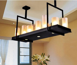 Wholesale Works Suspension - evin Reilly Altar Modern Pendant Lamp Remote Control Chandelier Candle Light Fixture Suspension Lamp Rectangular Wrought Iron Pendant Light