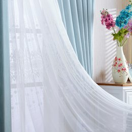 Wholesale Window Double Curtains - Soft Air Permeable Slub Cotton Window Curtains Bedroom Living Room Curtain Sunlight Protection Transparent Curtain Wholesale Per Meter gauze