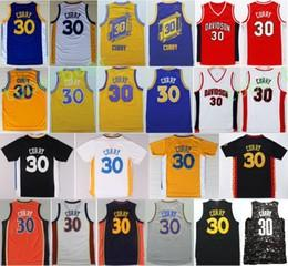 Wholesale Men S Chinese Shirts - Best Quality 30 Jersey Shirt Throwback College Uniforms Chinese Christmas Blue White Red Black