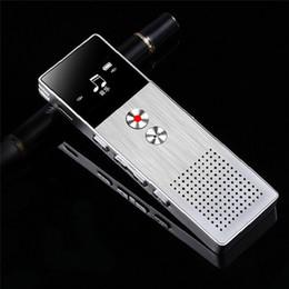 Wholesale Microphone Spy Pen - New Arrival Digital Voice Recorder 8GB Noise Deduction Sound Audio Recorder Dictaphone Double Microphone Zinc Alloy Spy Recording Pen FM MP3